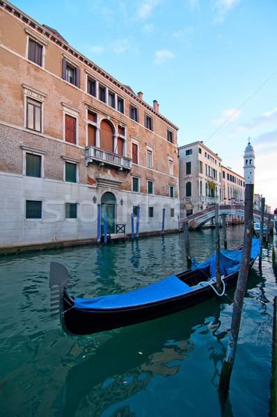 Veneza Itália canal famoso barco água Foto stock © keko64
