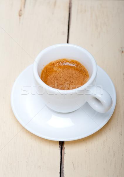 イタリア語 エスプレッソ コーヒー 白 背景 ストックフォト © keko64