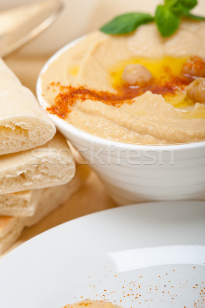 Pita chleba tradycyjny papryka górę żywności Zdjęcia stock © keko64