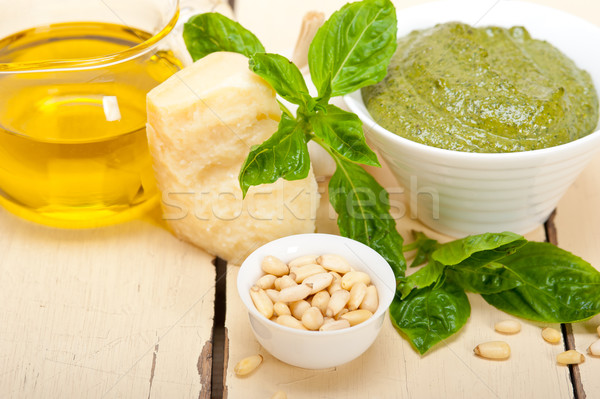 Italian basil pesto sauce ingredients Stock photo © keko64