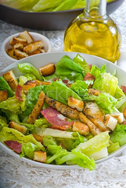 Taze ev yapımı salata klasik nakış Stok fotoğraf © keko64