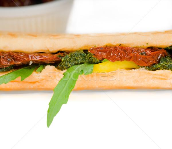 Panini sandwich fraîches maison typique italien Photo stock © keko64