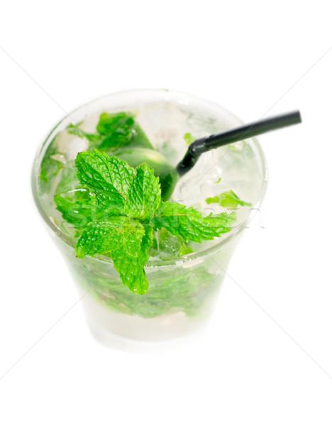 mojito caipirina cocktail with fresh mint leaves Stock photo © keko64