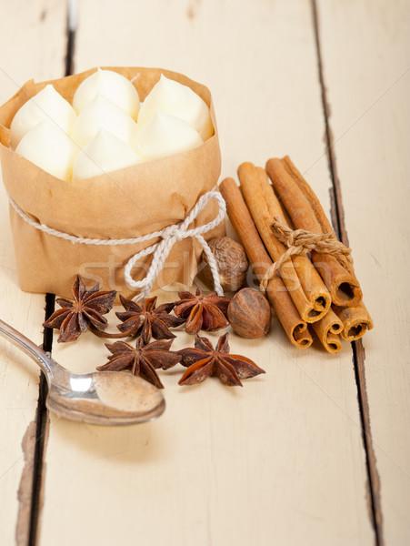vanilla and spice cream cake dessert Stock photo © keko64