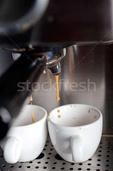 espresso coffe making with professional machine Stock photo © keko64