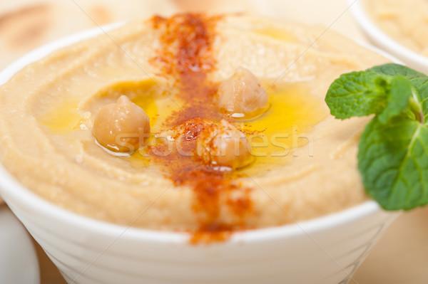 Stockfoto: Pita · brood · traditioneel · paprika · top · voedsel