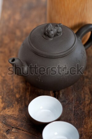 chinese style pot and cups  Stock photo © keko64