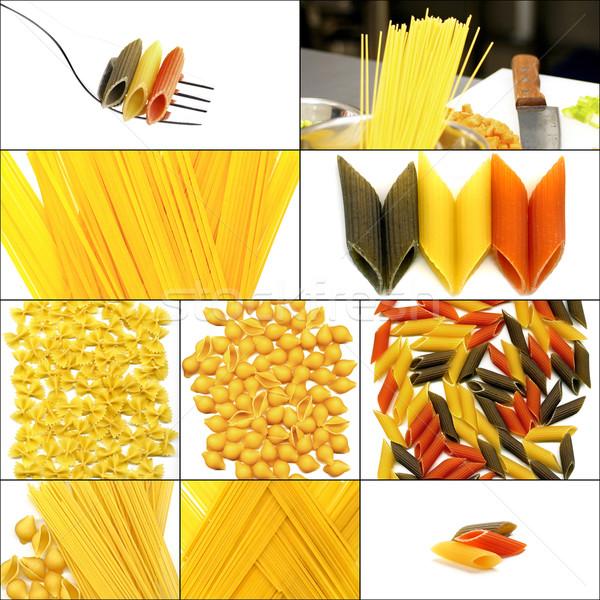 Tipo italiana pasta collage piazza Foto d'archivio © keko64
