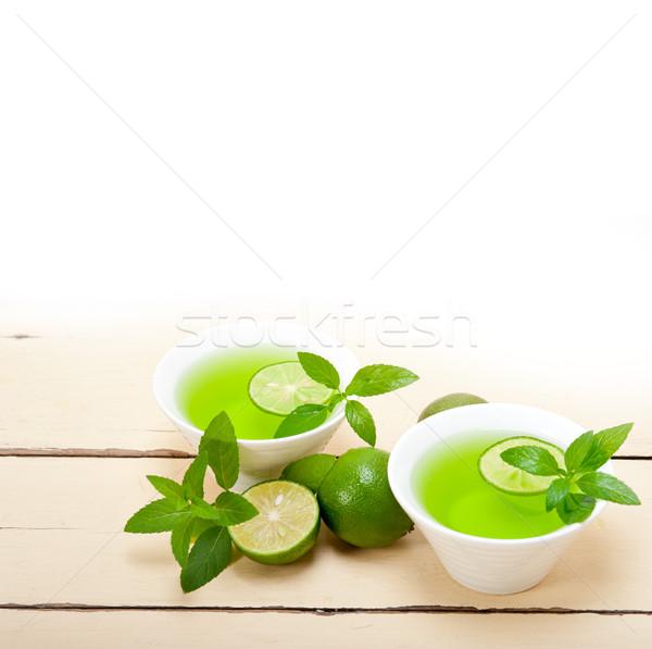mint infusion tea tisane with lime Stock photo © keko64