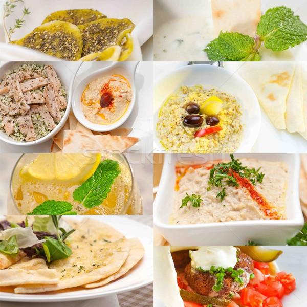 Midden oosten voedsel collage arab collectie Stockfoto © keko64