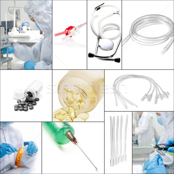 Médico colagem mosaico branco quadro médico Foto stock © keko64