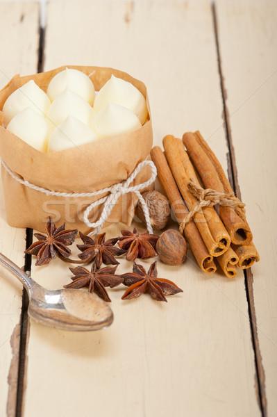 Vanilya baharat krem kek tatlı taze Stok fotoğraf © keko64