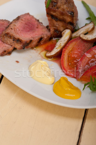 beef filet mignon grilled with vegetables Stock photo © keko64