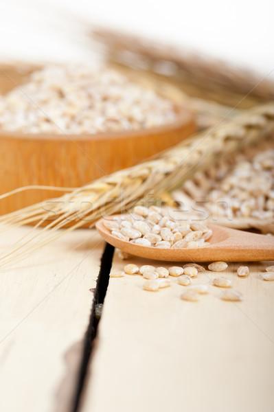 organic barley grains Stock photo © keko64