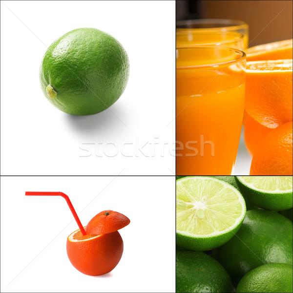 Stock photo: citrus fruits collage