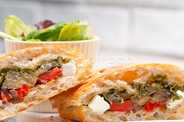 Panini plantaardige feta Italiaans voedsel Stockfoto © keko64