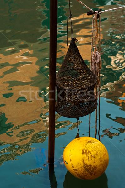 Venecia Italia pesca artes canal agua Foto stock © keko64