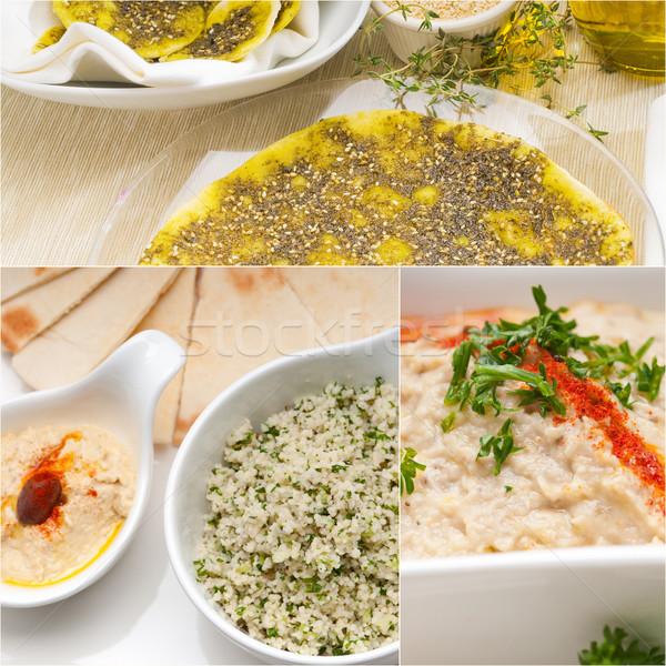 Arab voedsel collage collectie witte Stockfoto © keko64