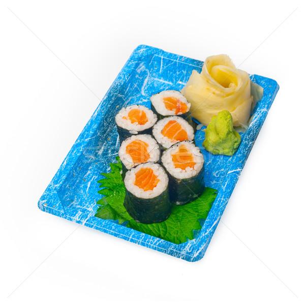 Elvesz messze szusi expressz műanyag tálca Stock fotó © keko64