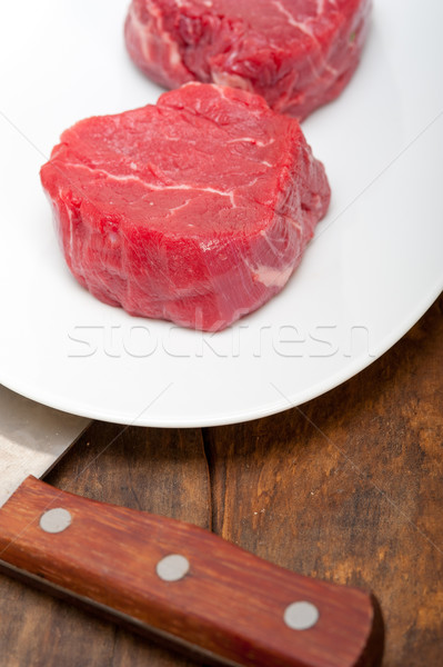 raw beef filet mignon Stock photo © keko64