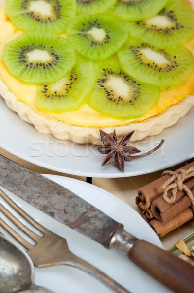 kiwi  pie tart and spices Stock photo © keko64