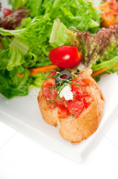 Сток-фото: оригинальный · итальянский · свежие · брускетта · пальца · продовольствие