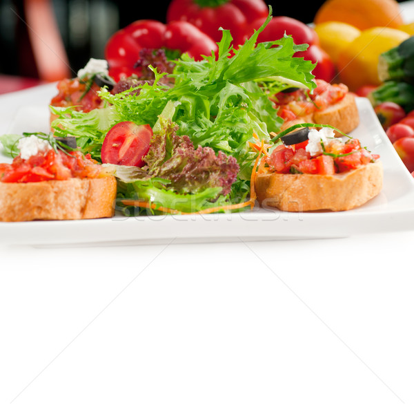 Originale italien fraîches bruschetta doigt alimentaire Photo stock © keko64