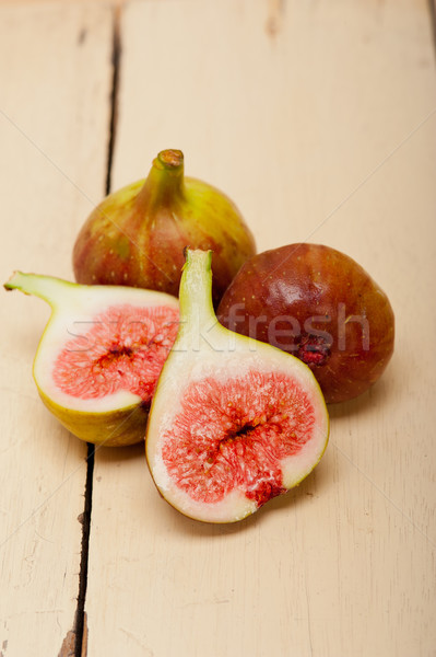 fresh figs on a rustic table Stock photo © keko64