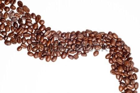 Feijões estrada grãos de café forma café Foto stock © keko64