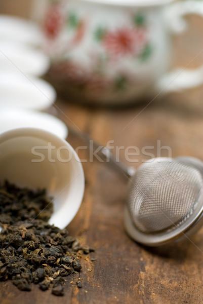 зеленый китайский чай набор высушите чайник Сток-фото © keko64