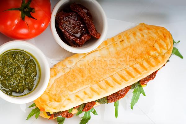 Panini sandviç taze ev yapımı tipik İtalyan Stok fotoğraf © keko64