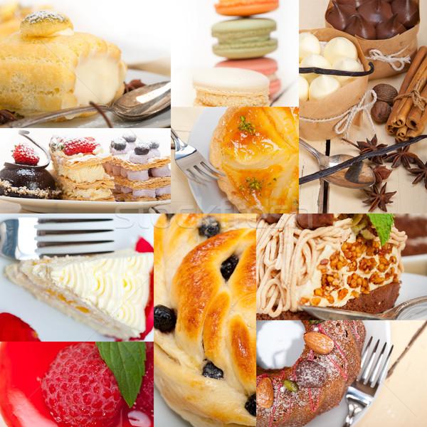 Foto stock: Fresco · sobremesa · bolo · colagem · colorido · delicioso