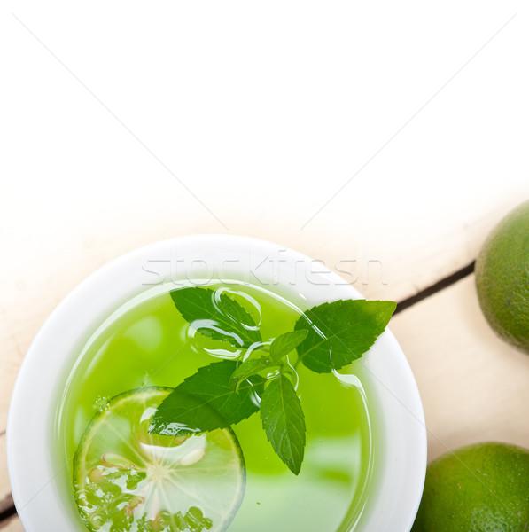 Nane demleme çay kireç taze sağlıklı Stok fotoğraf © keko64