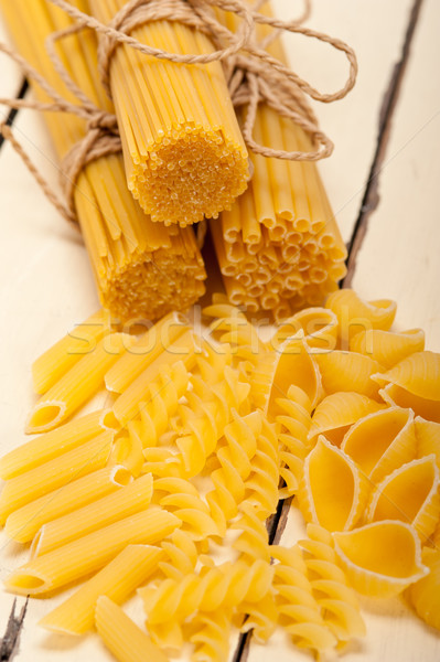 bunch of Italian pasta type Stock photo © keko64
