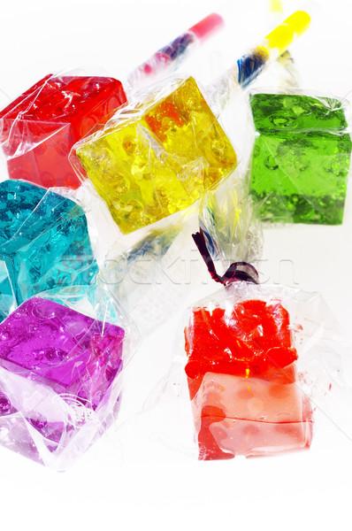 Dados diversión rojo dulces Foto stock © keko64