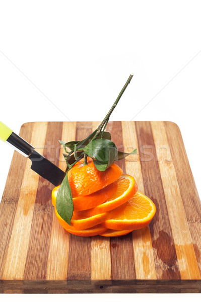 fresh orange sliced Stock photo © keko64