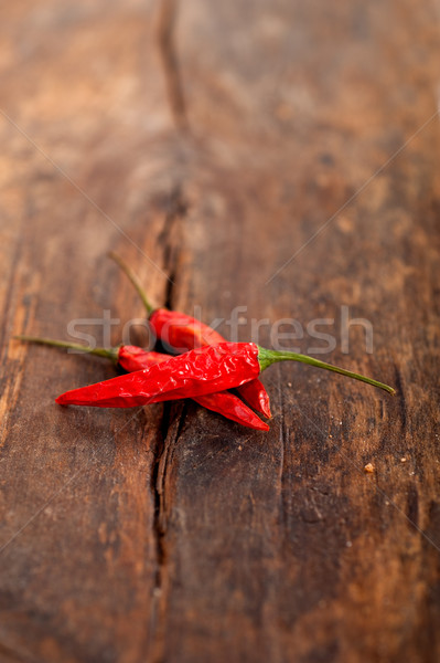 dry red chili peppers  Stock photo © keko64