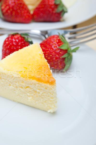 Kalp cheesecake kek valentine gün Stok fotoğraf © keko64