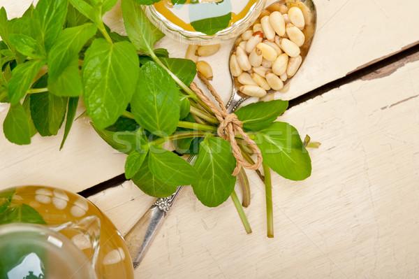 árabes tradicional menta pino nueces té Foto stock © keko64