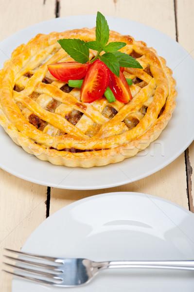 говядины пирог свежие макроса Сток-фото © keko64