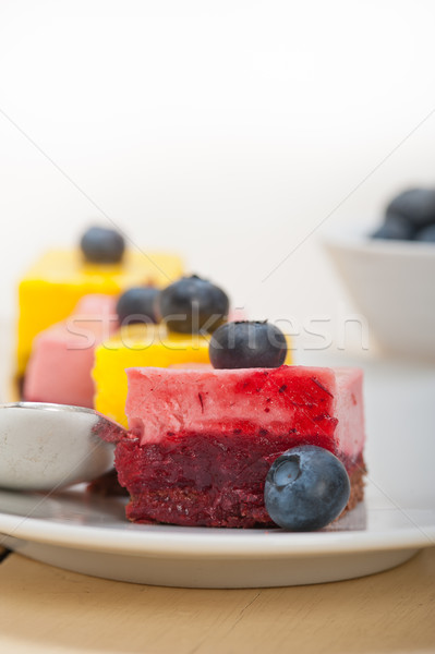 strawberry and mango mousse dessert cake Stock photo © keko64