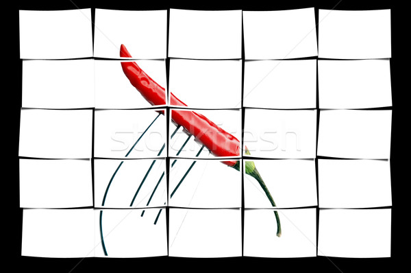 red chili pepper on a fork Stock photo © keko64