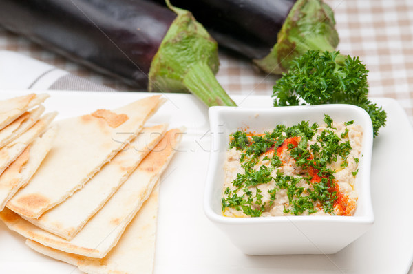 moutabal baba ghanoush eggplant dip Stock photo © keko64