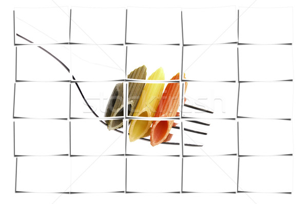 italian penne pasta on a fork Stock photo © keko64