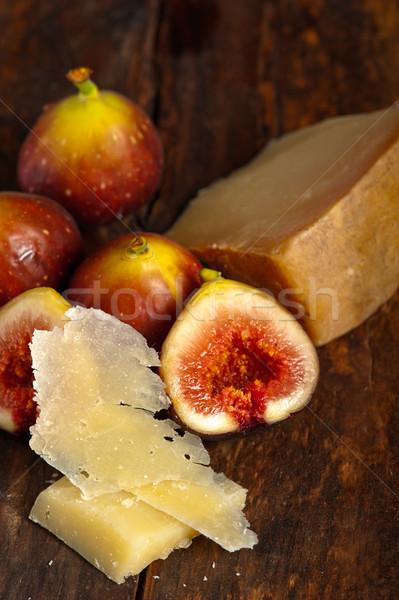 Sajt friss olasz makró közelkép régi fa Stock fotó © keko64