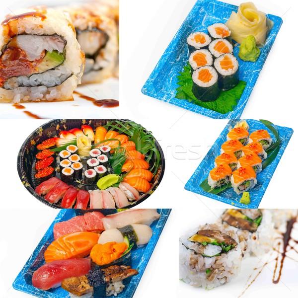 Japanese sushi collage  Stock photo © keko64