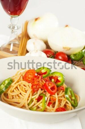 辛い イタリア語 パスタ トマト ソース ストックフォト © keko64