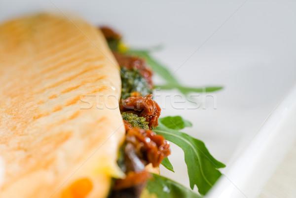Panini sanduíche fresco caseiro típico italiano Foto stock © keko64