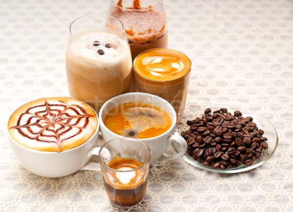 selection of different coffee type Stock photo © keko64