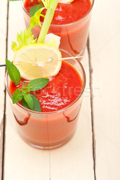新鮮な トマトジュース スープ ガラス 白 ストックフォト © keko64